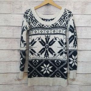 American Eagle Wool Blend Tunic Fair Aisle Sweater